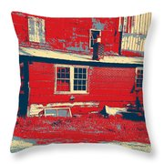 The Feed Store Throw Pillow