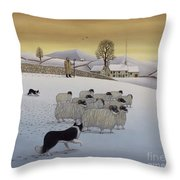 The Fells In Winter Throw Pillow