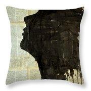 The Female Silhouette . Throw Pillow