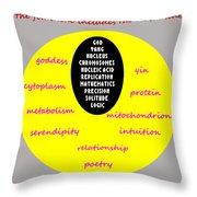 The Feminine Throw Pillow by Eikoni Images