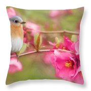 The Feminine Touch Throw Pillow