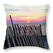 The Fence II  Throw Pillow