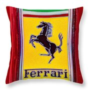 The Ferrari Logo Throw Pillow
