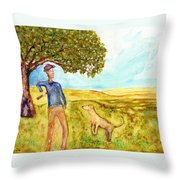 The Fetching Game Throw Pillow