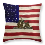 The Few, The Proud Throw Pillow