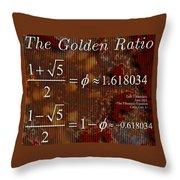 The Fibonacci Equation Catus 1 No. 1 H  Throw Pillow