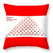 The Fibonacci Numbers Catus 1 No. 3 H A Throw Pillow
