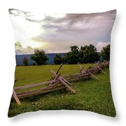 The Field Of Lost Shoes Throw Pillow