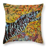 The Fierce Eel Throw Pillow