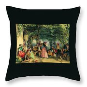 The Fiesta At Granada Throw Pillow