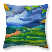 The Fifth Day Throw Pillow