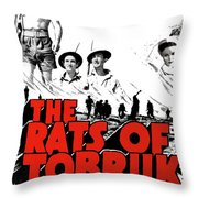 The Fighting Rats Of Tobruk  Theatrical Poster 1944 Color Added 2016 Throw Pillow