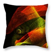 The Figure In Red Clothes Throw Pillow