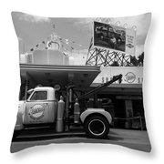 The Fill-in Station Throw Pillow by Michael Tesar