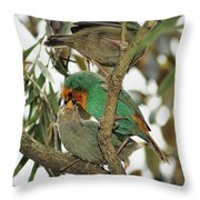 The Finch Family  Throw Pillow