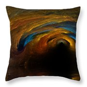 The Fire Caves Of Riagle Throw Pillow