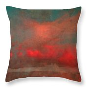 The Fire Clouds Throw Pillow