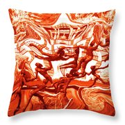 The Fire Dance Down Below Throw Pillow