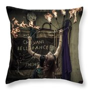 The Fire Dancer Throw Pillow