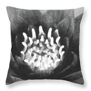 The Fire Inside - Water Lily 02 - Bw Throw Pillow