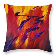 The Fire Of Life Throw Pillow