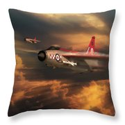 The Firebirds Throw Pillow
