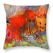 The Firecat Throw Pillow