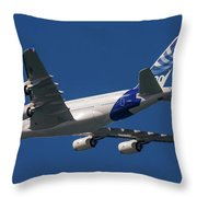 The First Airbus A380. Throw Pillow