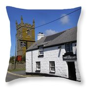 The First And Last Inn In England Throw Pillow