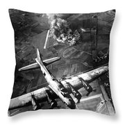The First Big Raid By The 8th Air Force Throw Pillow