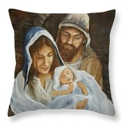 The First Christmas Throw Pillow