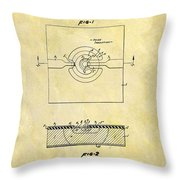 The First Computer Chip Patent Throw Pillow