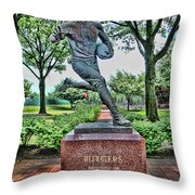 The First Football Game Monument Throw Pillow