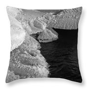 The First Ice Throw Pillow