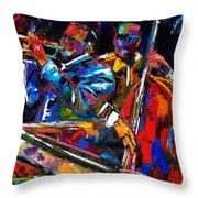 The First Set Throw Pillow