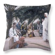 The First Shall Be The Last Throw Pillow by Tissot