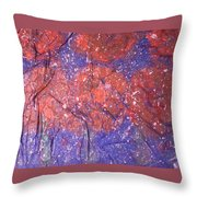 The First Snow On My Garden Throw Pillow