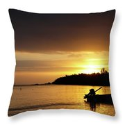 The First Sunrise Throw Pillow
