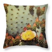 The First To Open  Throw Pillow