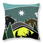 The First Visitors White Version Throw Pillow