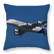 The Firts Airbus A380 Throw Pillow