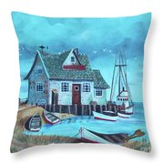 The Fish House Throw Pillow