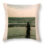 The Fish Hunter Throw Pillow