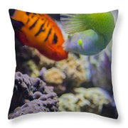 The Fish Kiss Throw Pillow