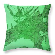 The Fish Tank Throw Pillow