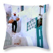 The Fisherman's Breakfast Throw Pillow