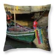 The Fisherman's Kids Throw Pillow