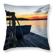 The Fisherman's Life Throw Pillow