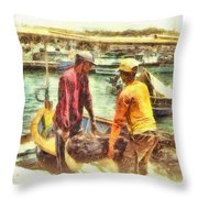 The Fishermen Throw Pillow