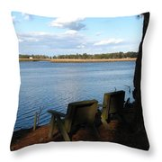 The Fishing Spot Throw Pillow